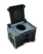 confined space toilet