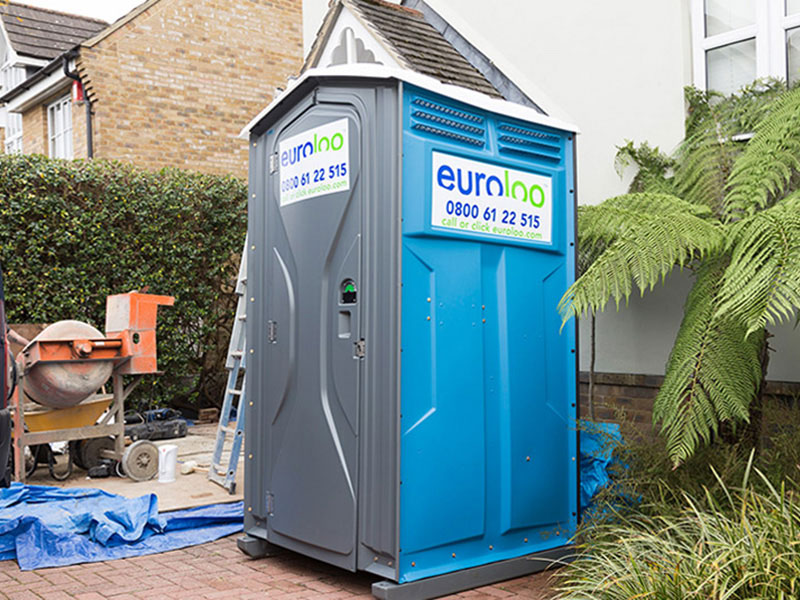 euroloo Chemical Portable Toilet Hire on site