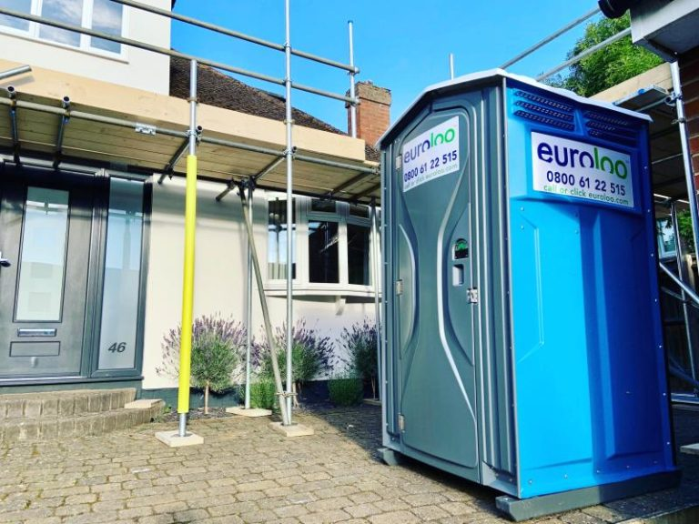 Portable toilet hire for the Garden Room Company